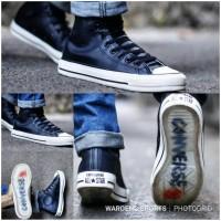 Sepatu Converse x John Varvatos High Leather Black Vietnam Kulit Shoes