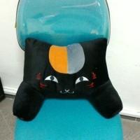 Bantal Punggung untuk kursi kantor mobil Boneka kucing Nyangko Sensei