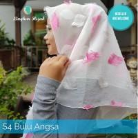 Jilbab Segi Empat Motif Bulu Angsa Harga Grosir Murah Supplier