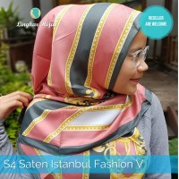 Jilbab Segi Empat SatIn Istambul Fashion V Harga Grosir Murah Supplier