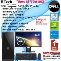 DELL Inspiron 3670 Intel Core i5-8400/8GB/1TB/VGA/Win10HSL+E2016HV