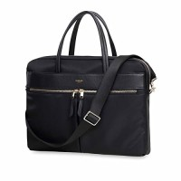 "Knomo HANOVER 14"", SLIM BRIEFCASE BAG - BLACK"