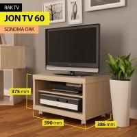 Pro Design Jon Rak TV - Sonoma Oak