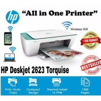 PRINTER WIRELESS HP 2623 ALL IN ONE PRINT-SCAN-COPY-WIFI GARANSI HP1TH