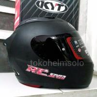 Helm KYT RC7 Black Doff Flat Visor dark smoke