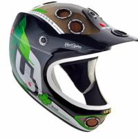 URGE Helmet Down-O-Matic Veggie Black/Green L/XL Byotw1493
