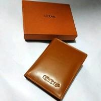 Dompet pria kulit asli kickers 696 model berdiri dompet lipat kulit