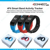 4Fit Smartwatch Blood Pressure and Oxigen Monitorm Waterproof - Hitam