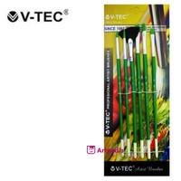 V-Tec Artist Brush 9056 Set 6 / Kuas Lukis Set isi 6