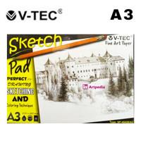 V-Tec Sketch Pad A3 - 40 lembar (110gsm) SP-40420 / Sketching Pad
