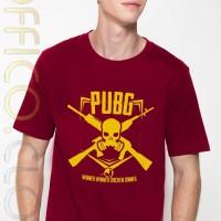 Harga kaos tshirt merah maroon logo game pubg | Pembandingharga.com