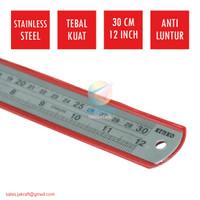 Penggaris Besi Baja Stainless Steel KENKO Joyko 30 Cm Grosir Ecer
