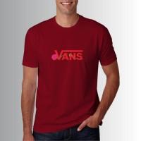 Kaos Baju Distro Maroon Vans And Rose O6134