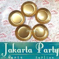Piring Kue Gold / Paper Plate Gold / Piring Kertas / Piring Kue Ultah