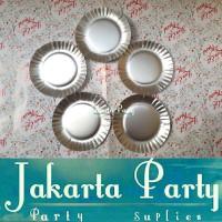Piring Kue Silver / Paper Plate Silver / Piring Kertas / Piring Ultah