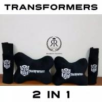 Bantal Mobil Set 2 in 1 Transformers / Headrest Car 2in1 Transformer