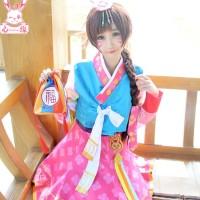 Costume cosplay d.va overwatch hanbok ver. import