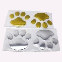 3D Sticker Jejak Kaki Anjing / Stiker Mobil