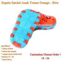 Sepatu Anak Ruber Tomas ORANGE BIRU