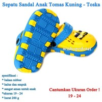 Sepatu Anak Ruber Tomas KUNING TOSKA