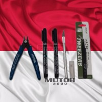 Paket mini tool set tool kit gundam gunpla bandai tang pinset lining