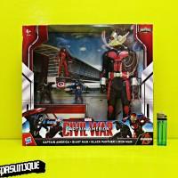 Figure Civil War Captain America, Giant Man, Black Panther & Iron Man