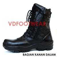 Sepatu PDL Pria Safety Boots Kulit Asli PDH TNI POLRI DELTA FORCE TE
