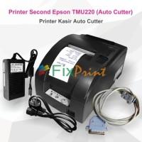 New Printer Kasir Bekas Epson TM-U220 tmu220 (Auto Cutter) + Adaptor.