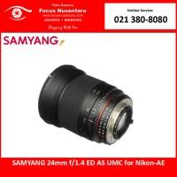 SAMYANG 24mm f/1.4 ED AS UMC for Nikon-AE