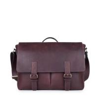 Gammara Leather Messenger Bag - Maros (Dark Brown)