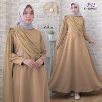 Harga 5943 baju muslim terbaru gamis coksu pearl dress pesta muslimah | Pembandingharga.com