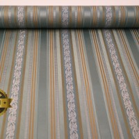 Harga wallpaper vinyl 53cm x 10m batik garis hijau timbul | Pembandingharga.com