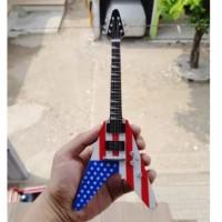 Harga miniatur gitar jackson flying v usa dave mustaine megadeth | Hargalu.com