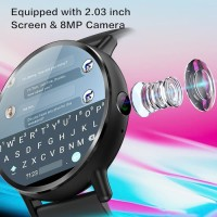 LEMFO LEMX 4G LTE Smartwatch Phone Android 7.1 8MP 2.03