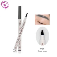 Dark grey 03 - Fine Sketch Liquid Eyebrow Music Flower Pen Waterproof