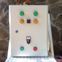 Panel ATS Switch PLN Genset Starter & Choke Otomatis Fitur IoT Android