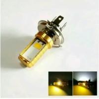 Lampu Depan 2 Sisi H4 DC Low Beam Putih High Beam Kuning