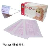 Masker Jilbab Pink OneMed Box isi 50 pcs