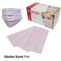 Masker Karet Pink OneMed box isi 50 pcs