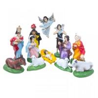 Patung Set Natal 10cm / Patung Kelahiran Yesus