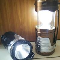 Senter Emergency Solar Lampu Lentera Solar Tarik Power Bank