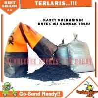 Bahan Isi Samsak Karet Vulkanisir - Serbuk Karet Giling Pengiriman JNE