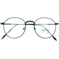 Frame Kacamata Korea Pria Wanita OPPA OP12 FBL Hitam Bulat Fashion