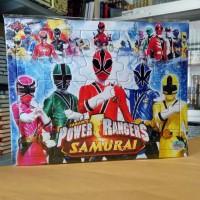 Puzzle / Puzle / Pazel Power Rangers uk Besar - mengasah otak anak