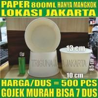 Paper bowl tebal 800ml PerDus 500pcs mangkuk kerts tahn microwave Jkrt