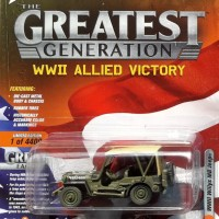 JOHNNY LIGHTNING GREATEST GENERATION - WWII JEEP WILLYS TOP DIRTY ver.