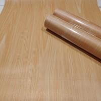 Serat kayu coklat uk.45cm x 10mtr - wallpaper dinding