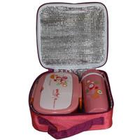Yooyee 592 Lunch Box Set + Termos / Botol Minum + Lunch Bag