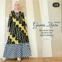 Gamis batik Printing Zie Zhara katun super halus