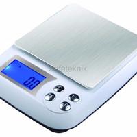 GJK274 Timbangan Digital 3kg Akurasi 1 gram bisa Adaptor Serbaguna D